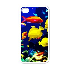 Tropical Fish Apple Iphone 4 Case (white) by Valentinaart