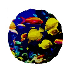 Tropical Fish Standard 15  Premium Flano Round Cushions by Valentinaart