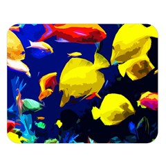 Tropical Fish Double Sided Flano Blanket (large)