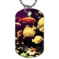 Tropical Fish Dog Tag (one Side) by Valentinaart