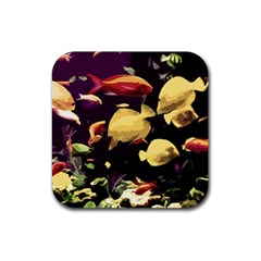 Tropical Fish Rubber Square Coaster (4 Pack)  by Valentinaart