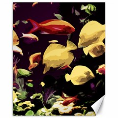 Tropical Fish Canvas 11  X 14   by Valentinaart