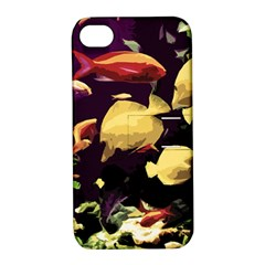 Tropical Fish Apple Iphone 4/4s Hardshell Case With Stand by Valentinaart