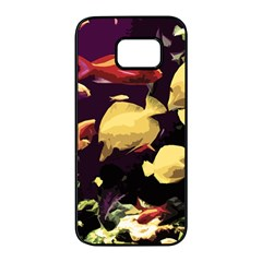 Tropical Fish Samsung Galaxy S7 Edge Black Seamless Case by Valentinaart