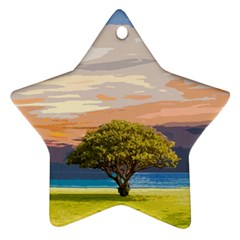 Landscape Star Ornament (two Sides) by Valentinaart