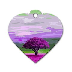 Landscape Dog Tag Heart (one Side)
