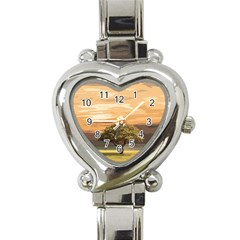 Landscape Heart Italian Charm Watch