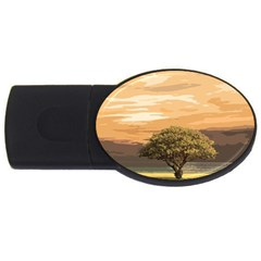 Landscape Usb Flash Drive Oval (4 Gb)
