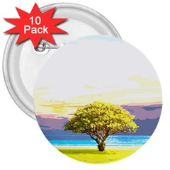 Landscape 3  Buttons (10 Pack)  by Valentinaart