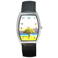 Landscape Barrel Style Metal Watch by Valentinaart