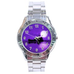 Open Sea Stainless Steel Analogue Watch