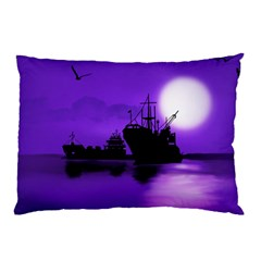Open Sea Pillow Case (two Sides) by Valentinaart