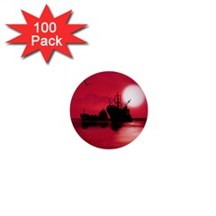 Open Sea 1  Mini Buttons (100 Pack)