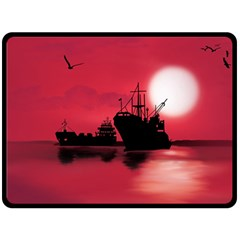 Open Sea Double Sided Fleece Blanket (large)