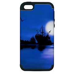 Open Sea Apple Iphone 5 Hardshell Case (pc+silicone)