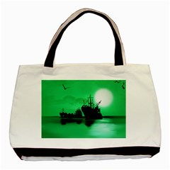 Open Sea Basic Tote Bag (two Sides) by Valentinaart