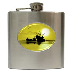 Open Sea Hip Flask (6 Oz) by Valentinaart