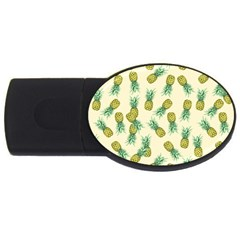 Pineapples Pattern Usb Flash Drive Oval (4 Gb) by Valentinaart