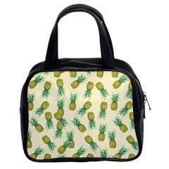 Pineapples Pattern Classic Handbags (2 Sides)