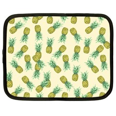 Pineapples Pattern Netbook Case (xl)  by Valentinaart