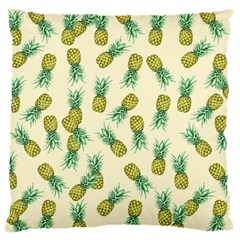 Pineapples Pattern Large Cushion Case (two Sides) by Valentinaart