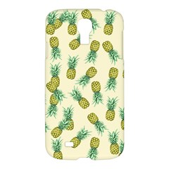 Pineapples Pattern Samsung Galaxy S4 I9500/i9505 Hardshell Case by Valentinaart