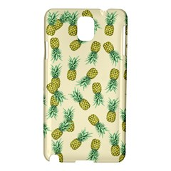 Pineapples Pattern Samsung Galaxy Note 3 N9005 Hardshell Case by Valentinaart