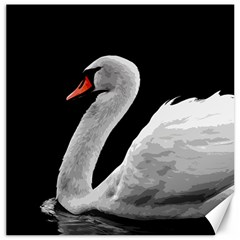 Swan Canvas 20  X 20   by Valentinaart