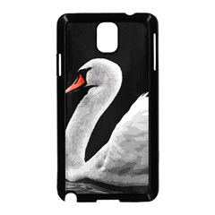 Swan Samsung Galaxy Note 3 Neo Hardshell Case (black)