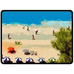 Beach Fleece Blanket (large)  by Valentinaart