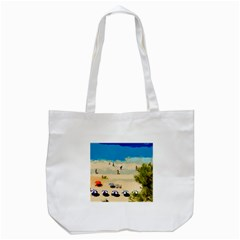 Beach Tote Bag (white) by Valentinaart