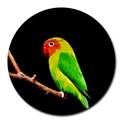 Parrot  Round Mousepads by Valentinaart