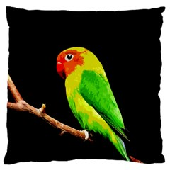 Parrot  Large Cushion Case (two Sides) by Valentinaart