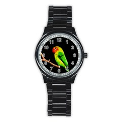 Parrot  Stainless Steel Round Watch