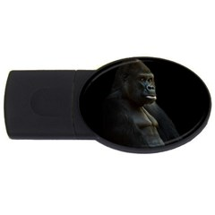 Gorilla  Usb Flash Drive Oval (2 Gb) by Valentinaart