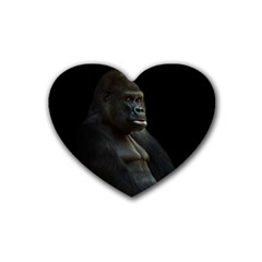 Gorilla  Rubber Coaster (heart)  by Valentinaart