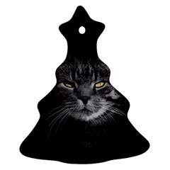 Domestic Cat Christmas Tree Ornament (two Sides) by Valentinaart