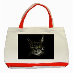 Domestic Cat Classic Tote Bag (red) by Valentinaart