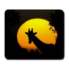 Giraffe  Large Mousepads by Valentinaart