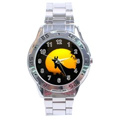 Giraffe  Stainless Steel Analogue Watch by Valentinaart