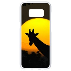 Giraffe  Samsung Galaxy S8 White Seamless Case by Valentinaart