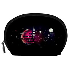 Fragments Planet World 3840x2400 Accessory Pouches (large)  by amphoto