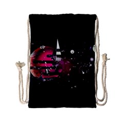 Fragments Planet World 3840x2400 Drawstring Bag (small) by amphoto