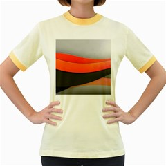 Line Shape Light  Women s Fitted Ringer T Shirts by amphoto
