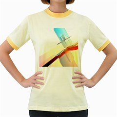 Compounds Liquid Tempering  Women s Fitted Ringer T Shirts by amphoto