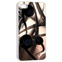Connection Shadow Background  Apple Iphone 4/4s Seamless Case (white) by amphoto