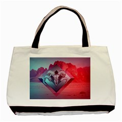 Horns Background Cube  Basic Tote Bag by amphoto
