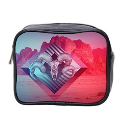 Horns Background Cube  Mini Toiletries Bag 2 Side by amphoto