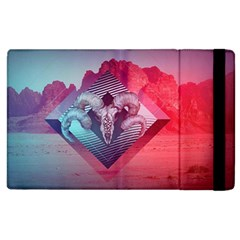 Horns Background Cube  Apple Ipad 3/4 Flip Case by amphoto