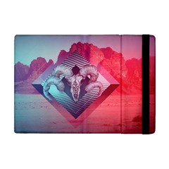 Horns Background Cube  Apple Ipad Mini Flip Case by amphoto